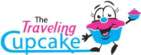 The Traveling Cupcake Retina Logo