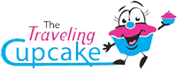 The Traveling Cupcake Sticky Logo